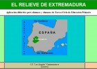 El relieve de Extremadura | Recurso educativo 34629