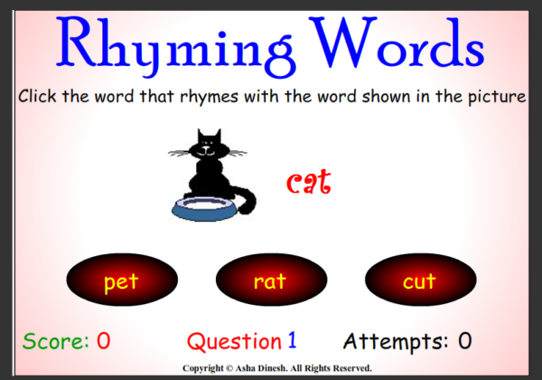 Rhyming words | Recurso educativo 42092