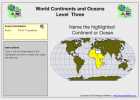 Game: Continents and oceans | Recurso educativo 49685