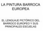 La pintura barroca europea | Recurso educativo 60966
