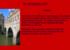 Webquest: An unknown city | Recurso educativo 12624
