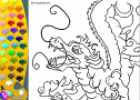 ¡A Colorear!: Dragón japonés | Recurso educativo 27379