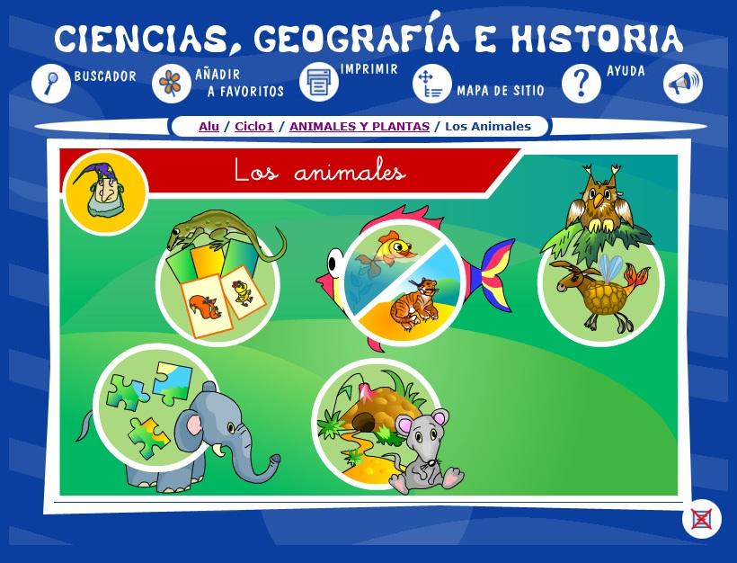 Ciencias Geografa e Historia  ANIMALES Y PLANTAS  Los
